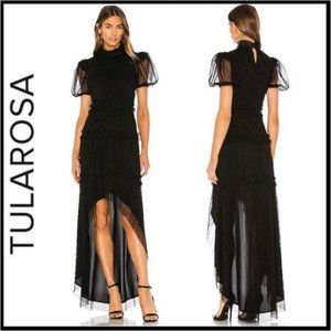 NWT Tularosa Valentina Gown in Black, Size Small